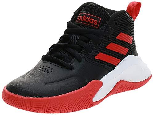 adidas Jungen Unisex-Kinder Ownthegame K Wide Basketballschuhe, Cblack/Actred/Ftwwht, 32 EU