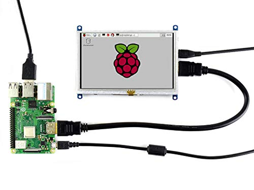 Waveshare 5inch TFT Resistive Touch Screen Display Module HDMI Interface for Rapsberry Pi4/ A/A+/B/B+/2 B/3 B & Banana pi & Beaglebone Black Provide Images Supports Various System