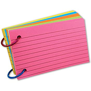 Top Notch Teacher Products TOP3674 Ring Notes Lined Assorted Bright Colors 3  x 5  Pack of 75