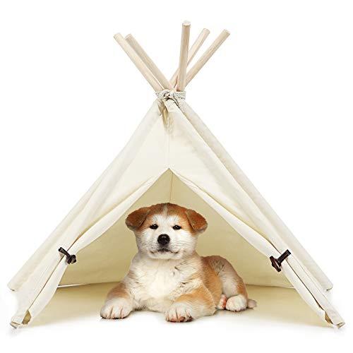 COSTWAY Tipi Tierzelt Hundezelt Katzenzelt Haustierzelt Haustierbett Hundebett Katzenbett für Haustiere 84x80x73cm