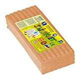 Feuchtmann Spielwaren- Plastilina Flexible, Aprox. 500 g - Color Carne, Bronceado (Feuchtmann_628 0305-11)