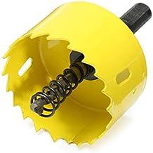 HELEISH Broca cortadora de sierra de orificio HSS de 50 mm con varilla conectada Herramienta accesoria