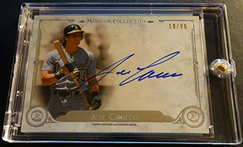 2014 JOSE CANSECO TOPPS MUSEUM AUTO AA-JC #19/99 (452)