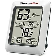ThermoPro TP50 Termómetro Higrometro Digital para Interior Termohigrómetro Medidor Profesional para Medición de Temperatura y Humedad del Casa Ambiente