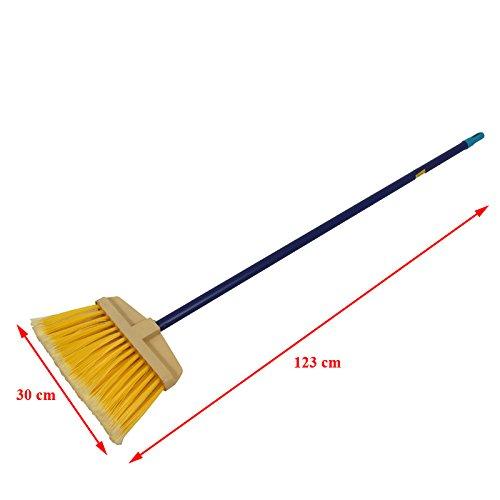 Feinschmutz Besen mit Stiel 123cm Feger Kehrbesen Stielbesen Borsten - 5