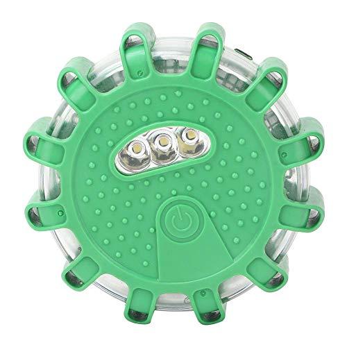 Oumefar Equipo de conducción de automóviles Accesorio Luz LED sin batería Fácil de Instalar y Quitar Iluminación de la Tienda(Green)