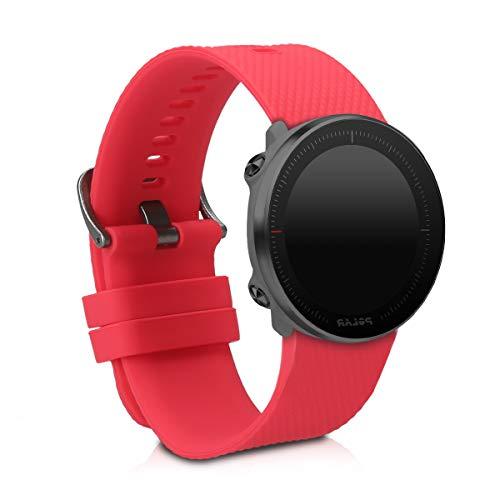 kwmobile Pulsera Compatible con Polar Vantage M/Grit X - Brazalete de Silicona en Rojo sin Fitness Tracker