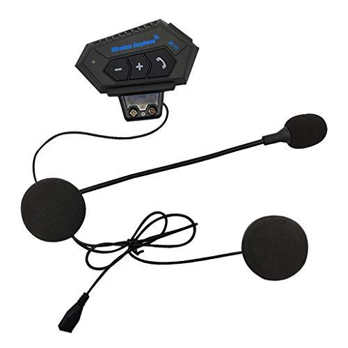 Shiwaki Bluetooth Casco de Motocicleta Auriculares Altavoces Micrófono Manos Libres Música Control de Llamadas