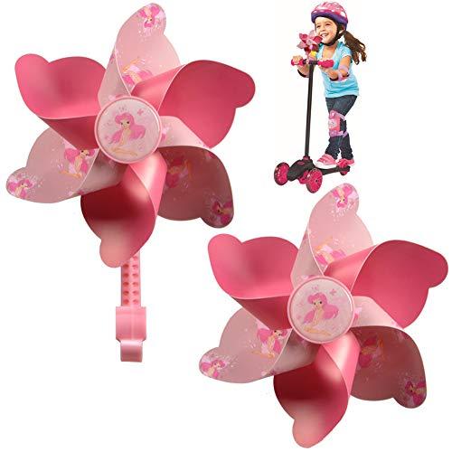 SDFY Fahrrad Windmühle - Kinder Fahrrad Lenker Blume Pinwheel Windmühle Dekoration Windspiel Kinderfahrräder Zubehör für Alle Fahrräder, Roller, Dreiräder, Laufräder, Kinderwagen und Buggys