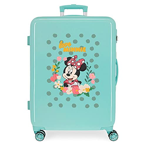 Disney Minnie Minnie Golden Days Maleta Mediana Azul 48x68x26 cms Rígida ABS Cierre de combinación Lateral 70 3 kgs 4 Ruedas Dobles