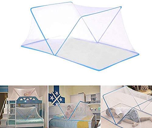 SUSU Baby-Anti-Moskito-Folding Nets Babyportable Breathmoskitonetz Freier Installations Schlaf-Reisen Mesh-Zelt Für Baby Kleinkinder Kinder Blue-125CM X 68 cm