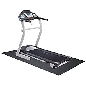 BalanceFrom GoFit High Density Treadmill Exercise Bike Equipment Mat, 3 x 6.5-ft, Regular