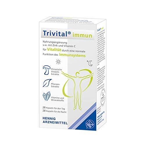 TRIVITAL immun: Für Vitalität durch ein gesundes Immunsystem, vegetarisch, lactosefrei, glutenfrei, 56 Kapseln