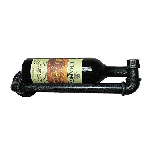 isasar DIY diseño de tubo de agua botellero Vintage Retro botellero soporte de pared para restaurantes, bares, diario muebles para el hogar Wine Rack