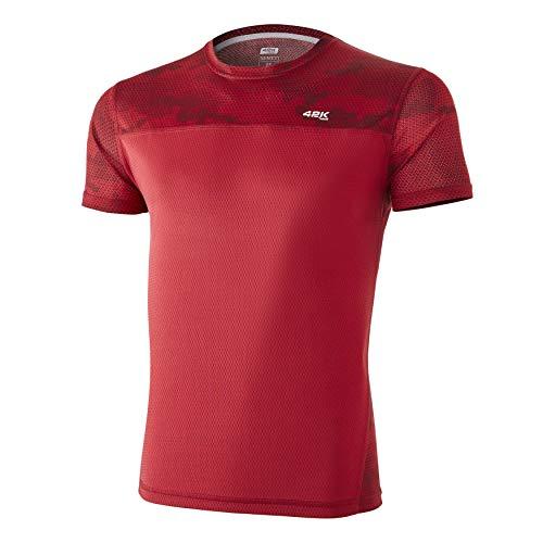 42K Running - Camiseta técnica 42K MIMET Hombre Ruby Red Hexagon M