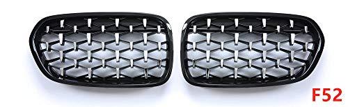 WANGLEISCC Für BMW F10 F18 F30 F35 G30 G38 X1 X3 X4 X5 X6, EIN Paar Diamond Racing GrilleAuto Tuning Frontgrills-F52_2011-19_Jahr