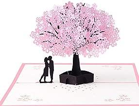 TEKEFT Sakura 3D Card, Anniversary Card, Mother's Day Card, Birthday, Christmas, New Year, Valentine's Day, Wedding, Graduation, Romantic Unique Pop-up Greeting Card