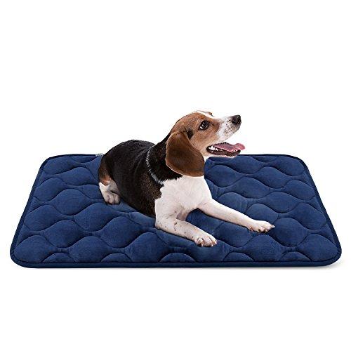 Weiche Hundebett Luxuriöse Hundedecken Waschbar Orthopädisches Hundekissen rutschfeste Hundematte Blau Mittelgroße von HeroDog