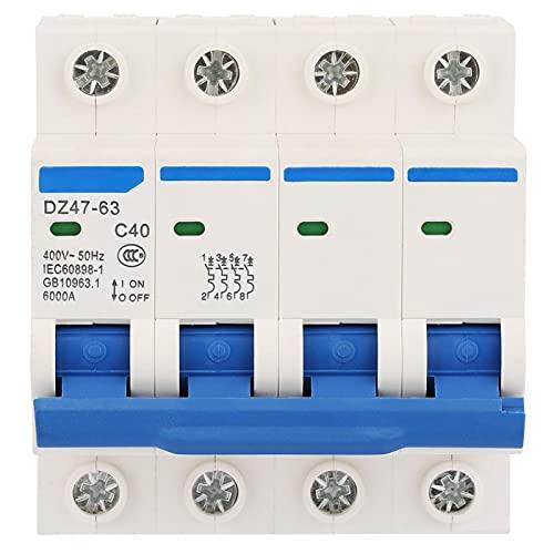 Disyuntor miniatura 40A 400V DZ47-63Z 4P para sistemas DC
