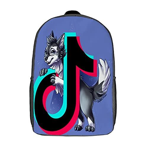 T-ik Tok Mochila escolar a la moda, impermeable, linda mochila para ordenador portátil, mochila universitaria