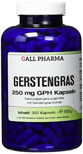 Gall Pharma Gerstengras 250 mg GPH Kapseln , 1er Pack (1 x 360 Stück)