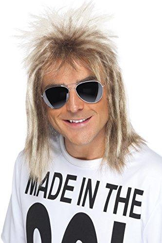Men's 80s Mullet Wig, Blonde