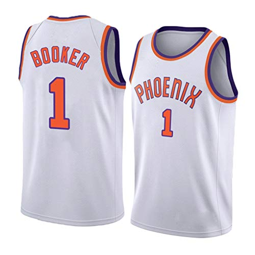 Devin Armani Booker #1, Phoenix Suns Team, nieuwe stof mannen basketbal truien, Unisex mouwloos T-shirt Basketbal Uniform Swingman Jersey