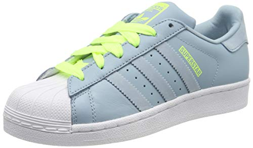 adidas Superstar J Zapatillas de Gimnasia Unisex Niños, Gris (Ash Grey S18/Ash Grey S18/Hi/Res Yellow), 37 1/3 EU (4.5 UK)