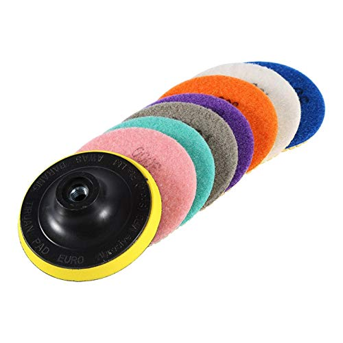 Almohadillas de pulido de diamante húmedo/seco, juego de discos de pulido de uso de pulido para hormigón de baldosas de cerámica de piedra de mármol de granito, almohadillas de pulido de diamante