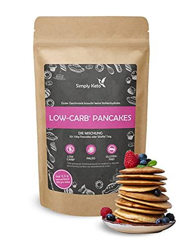Simply Keto Low Carb Pancake Mix - Low Carb Baking Mix sprawia, że 750g ciasto na naleśniki lub gofry - tylko 2% węglowodanów netto - Low Calorie & 100% Keto - Gluten Free - 285g