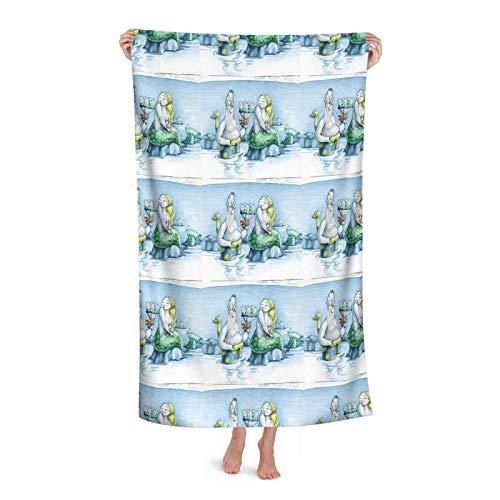 Funny Man da a una sirena traviesa un ramo de secado rápido, toallas de playa de microfibra de gran tamaño, toallas grandes para adultos