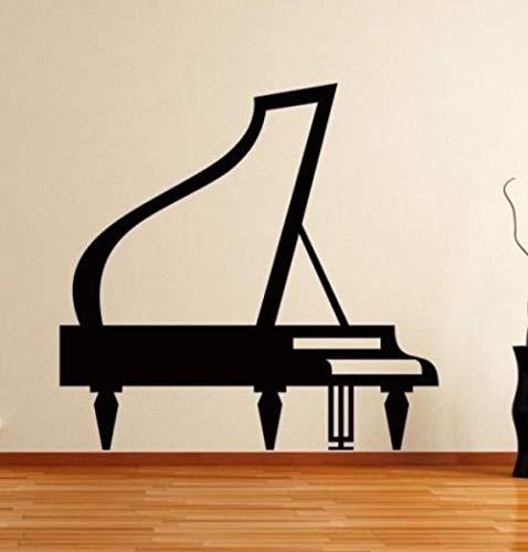 Wohnzimmer Schlafzimmer Wandaufkleber Für Mädchen Wohnkultur Grand Piano Muster Diy Abnehmbare Hintergrundbild Schlafsaal Vinyl Pvc Bild 59X57 cm