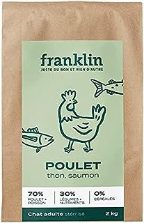Franklin – Croquettes sans Céréales – Chat Adulte Stérilisé – 70% de Viande – Contrôle du Poids - Pauvre en Matières Grass...