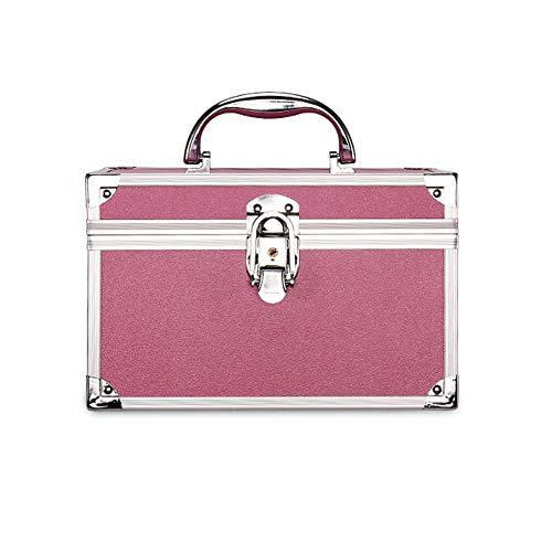Hadishi Kosmetikkoffer schminkkoffer S/M, Alu multikoffer etagenkoffer Größe und Design aus Aluminium Beauty Case Rollkoffer für Make-up Liebhaber zu Reisen -Tragegriff,D,M