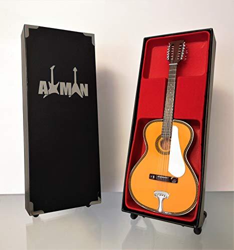 Leadbelly Fraulini Francesca 12 cuerdas acústicas - Réplica de guitarra en miniatura