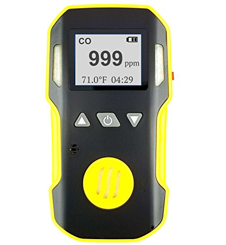 Carbon Monoxide CO Meter by Forensics | Professional | Dust & Explosion Proof | USB Recharge | Sound, Light and Vibration Alarms | USA NIST Calibration | 0-1000 ppm |