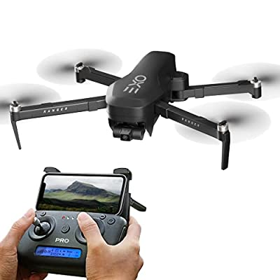 EXO Drones X7 Ranger - Best Foldable Drone with Camera for Adults. 4K Professional 3 Axis Gimbal - GPS Drone with Sport Mode, Auto Return Home, Follow-Me, Circle-me, and more. Professional Quadcopter Camera for Adults/Teens.