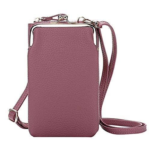 Bolsa leve crossbody para telefone feminino, pequena bolsa crossbody para celular para mulheres Bolsa de ombro porta-cartões tipo carteira (Purple)