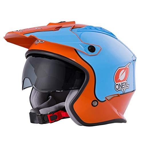 O\'NEAL | Motorradhelm | Enduro Adventure Street | Sicherheitsnormen ECE 22.05, ABS-Schale, integrierte Sonnenblende | Volt Helmet Gulf | Erwachsene | Orange Blau | Größe M