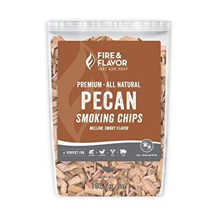 Fire & Flavor FFW109 Premium All Natural Smoking Wood Chips, 2 Pounds, Pecan