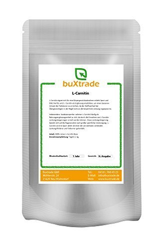 L-CARNITINA Base Polvere Amminoacido Nutrizione Varie Misure - 500 g
