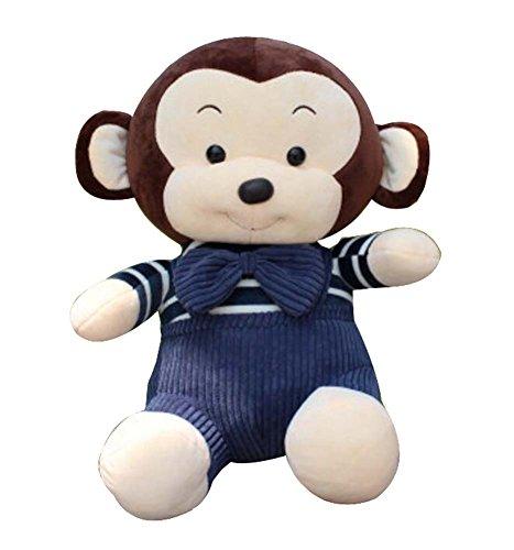 Black Temptation Jouets de poupée pour Enfants et Fillettes pour Enfants créatifs Peluche marionnette-Singe Bleu,30cm