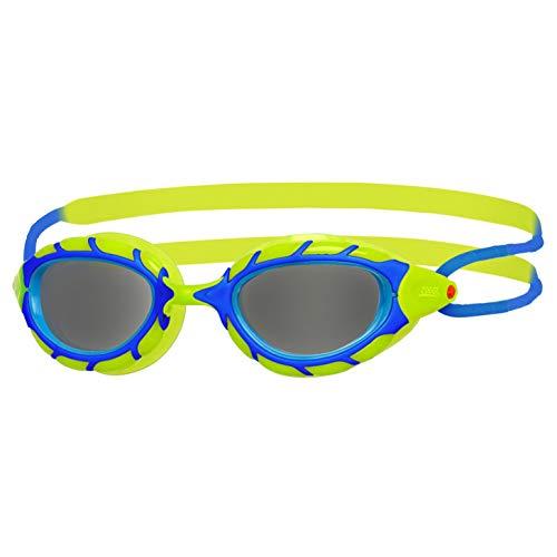 Zoggs Predator Junior Gafas de natación, Juventud Unisex, Azul/Lima/Humo, 6-14 años