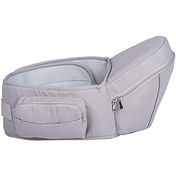 Plaisiureux ヒップシート 抱っこ紐 抱っこひも だっこひも 新生児 赤ちゃん (グレー)