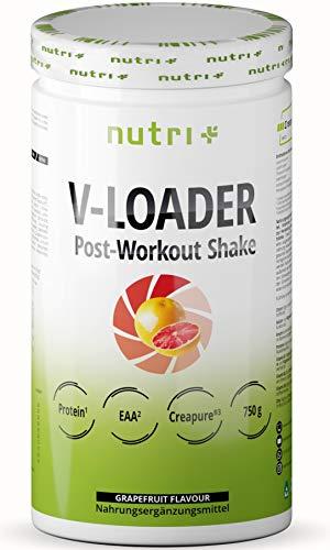 Recovery Drink After Workout Shake - V-Loader Post-Workout Supplement Vegan - 750g Grapefruit Pulver - Maltodextrin - Protein-Pulver - BCAA - Creatin-Monohydrat - L-Glutamin