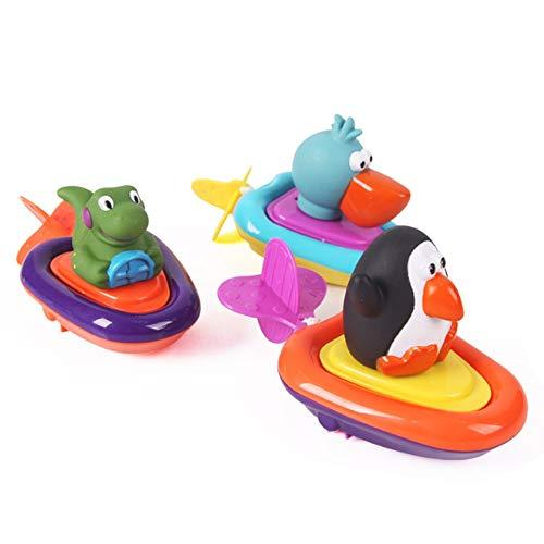 Rain City 2019 Clockwork Penguin Dinosaur Ships Pelican 3 Jeux de Hasard Salle de Bain Jouets adaptée pour Les bébés de Plus de 3 Ans