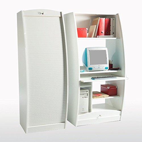 SIMMOB - Armoire Informatique Galbee Largeur 60 cm - Coloris - Blanc