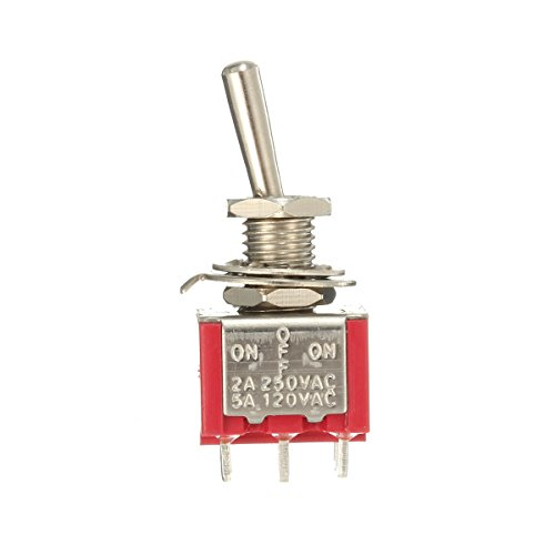 Wooya Red Toggle Switch Dpdt on-Off-on 6 Pins 3 Position 5A 120Vac /2A 250Vac