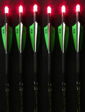 Summit Archery Products 6 Victory Crossbow Bolts with 6 Red Lighted Nocks (20' Bolts)