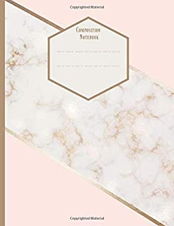 Composition Notebook: Graph paper Quad Ruled, Squared, Grid, Ideal for students, Design Work, 5x5. Rose Gold Marble